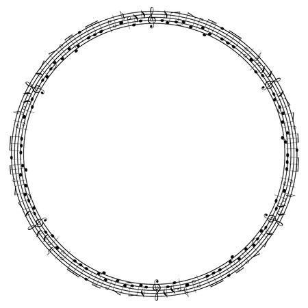 Round notes frame