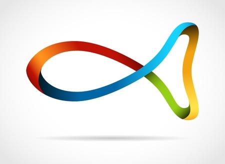 Vektor für Fish creative design symbol - Lizenzfreies Bild