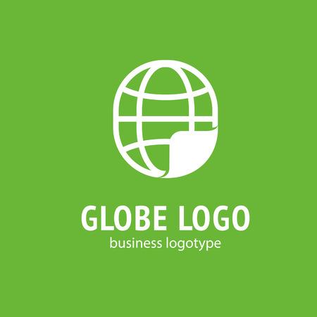 A Logo design Earth vector template flat simple sign
