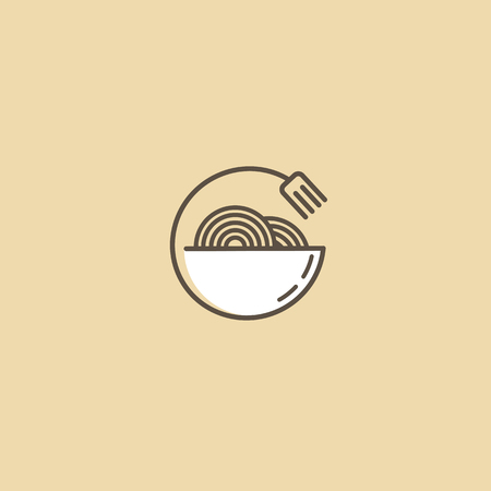 Illustration Design Of Monoline Minimalistic Simple