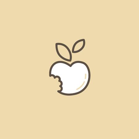 Illustration pour Abstract sign, vector logotype, editable design minimalist icon - image libre de droit