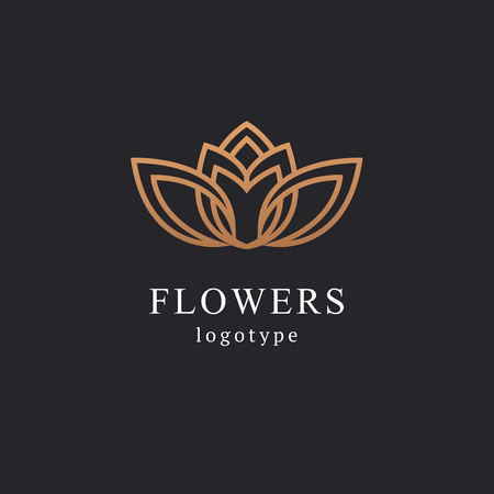 Illustration pour Abstract flower store logo icon vector design. Cosmetics, Spa, Beauty salon Decoration Boutique vector logo. Vector illustration, Graphic Design Editable Design. Floral logo. Flower wedding icon. - image libre de droit