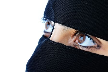 Asian arabic muslim woman with significant clothes