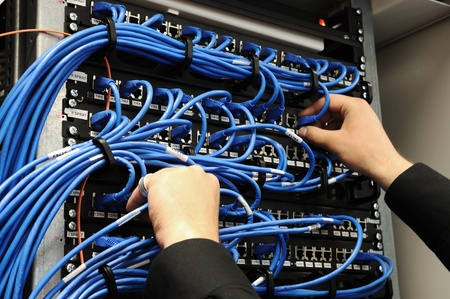 Server room with equipments