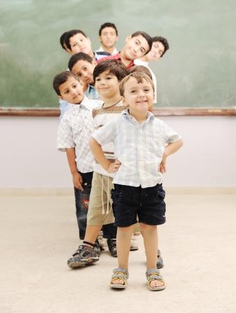 Foto de Children at school classroom - Imagen libre de derechos
