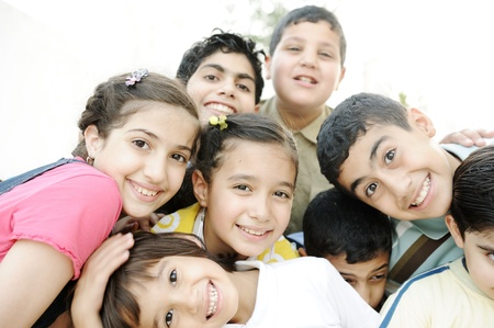 Foto de Group of happy children - Imagen libre de derechos