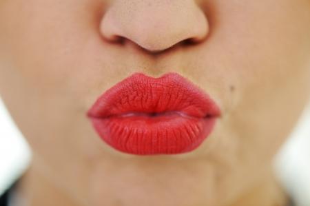 Photo pour Female lips closeup - image libre de droit