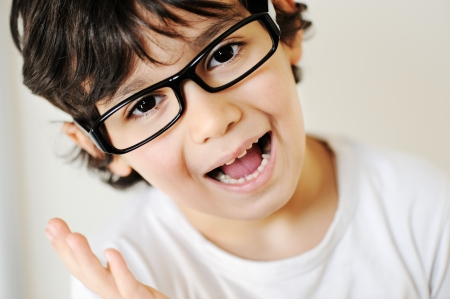 Child portrait with eye glasses