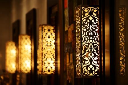 Ornamental vintage wall lamp