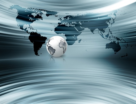 abstract metal business background with the planet