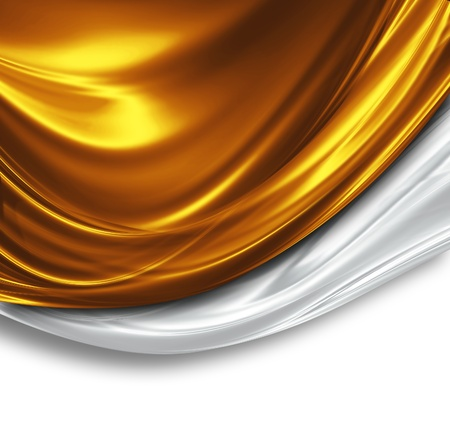 Photo pour gold and silver silk design - beautiful modern background - image libre de droit