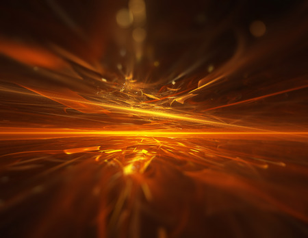 Photo for fire fractal horizon background - Royalty Free Image