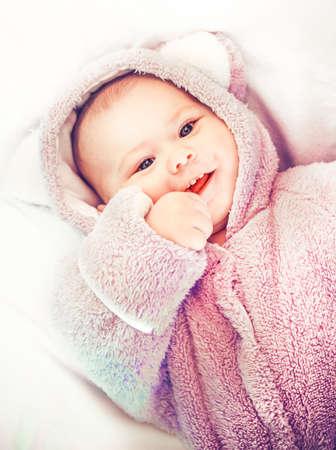 Photo pour Portrait of a little cute baby - image libre de droit