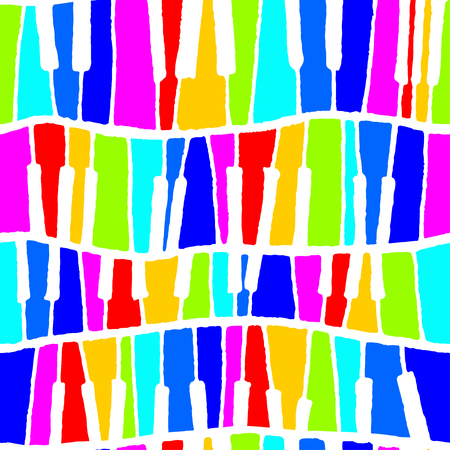 Seamless vector piano pattern in rainbow negative tones for wrapping, craft, textile, ceramic