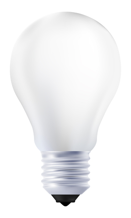 Photo realistic light bulb isolated on white background