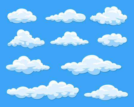 Illustration pour Set of cartoon clouds - image libre de droit