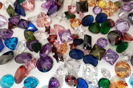 Photo for Beautiful background of precious stones for jewelry - Royalty Free Image
