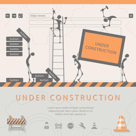Ilustración de Under construction concept - Imagen libre de derechos