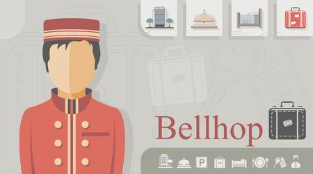 Illustration pour Occupation - Bellhop - image libre de droit