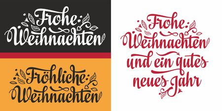 Frohe Weihnachten German Xmas Typography Letter Christmas