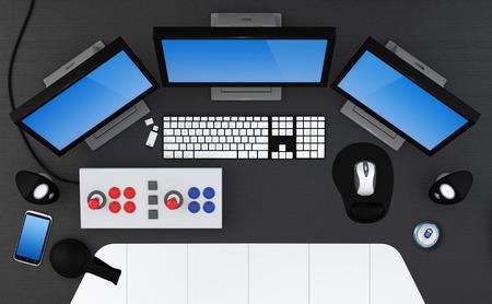 Gaming station concept - 3D Render