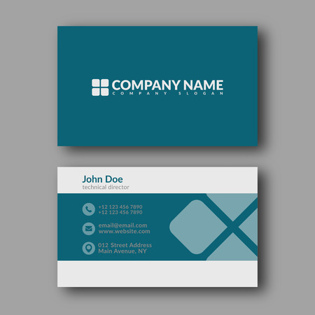 Illustration for Business Card Template. Vector Illustration. - Royalty Free Image
