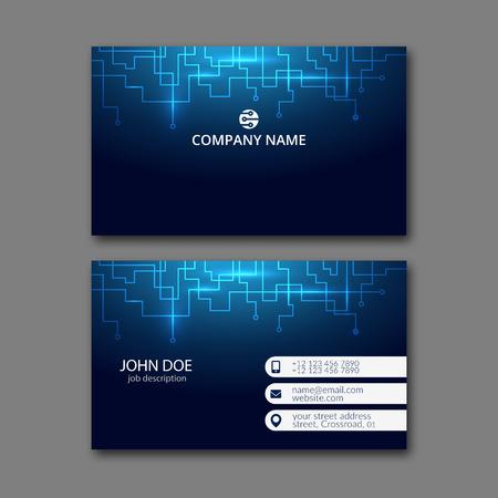 Foto per Elegant business card design template for creative design. - Immagine Royalty Free