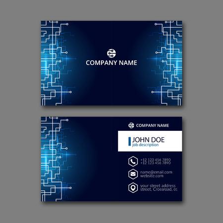 Vektor für Elegant business card design template for creative design. - Lizenzfreies Bild