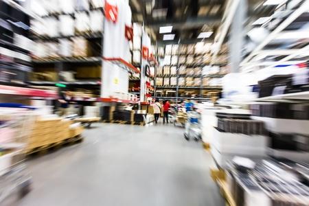 Photo pour Large furniture warehouse - image libre de droit