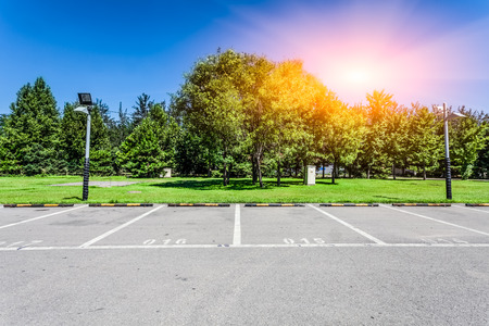 Photo for empty parking lot - Royalty Free Image
