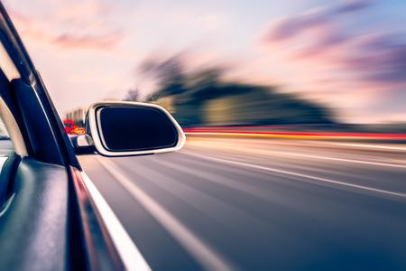 Photo pour ar on the road whit motion blur background - image libre de droit