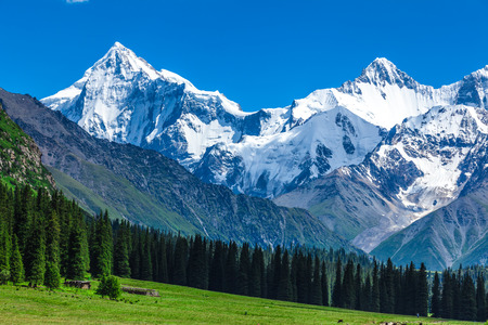 Photo pour snow mountains in Xinjiang - image libre de droit