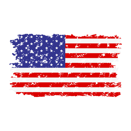 Illustration pour USA flag texture rubber stamp. Flag grunge usa national, american united texture. Vector illustration - image libre de droit