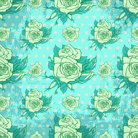 vintage wallpaper with seamless rose pattern mural