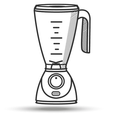 Illustration pour Blender in line art style. Isolated on white. - image libre de droit