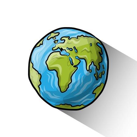 Illustration pour Doodle globe - image libre de droit