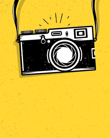 Ilustración de Vintage photo camera, vector illustration for your cool design, eps10 - Imagen libre de derechos
