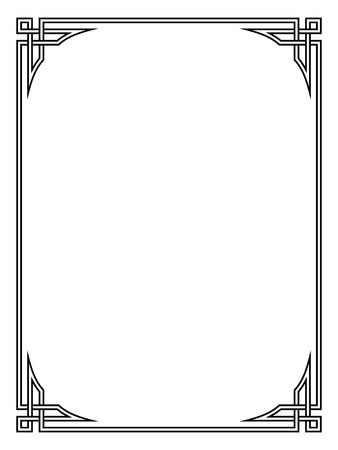 Ilustración de Roman style black ornamental decorative frame pattern isolated - Imagen libre de derechos