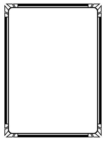 Ilustración de Vector Art Deco black calligraph ornamental decorative frame pattern - Imagen libre de derechos