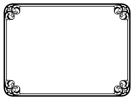 Illustration pour Vector simple black calligraph ornamental decorative frame pattern - image libre de droit