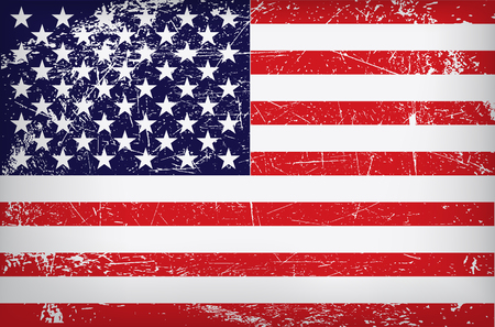 Illustration pour vector grunge flag of the united states of america. - image libre de droit