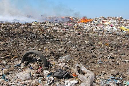 Photo pour Pollution, dumping of garbage - image libre de droit