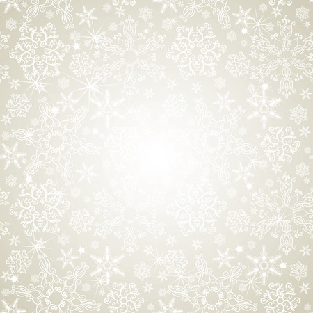 Illustration for Seamless silver snowflakes background - Royalty Free Image