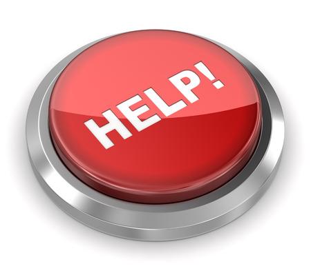 Photo pour Push Button - Help - image libre de droit