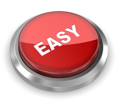 Photo pour Push Button - Easy - image libre de droit