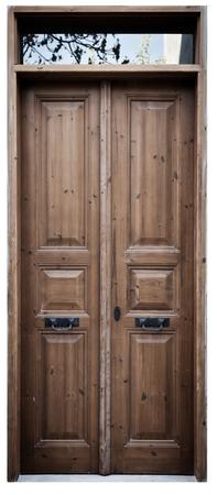 Foto de Wooden Door Background - Imagen libre de derechos
