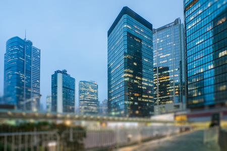 Foto de mdoern skyscrapers in central district of Hong Kong,china. - Imagen libre de derechos