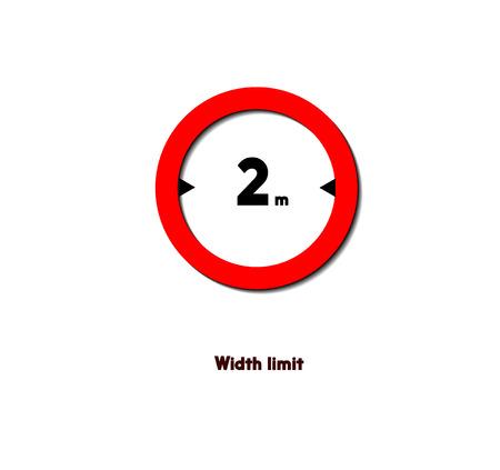 Ilustración de road sign,width limit - Imagen libre de derechos