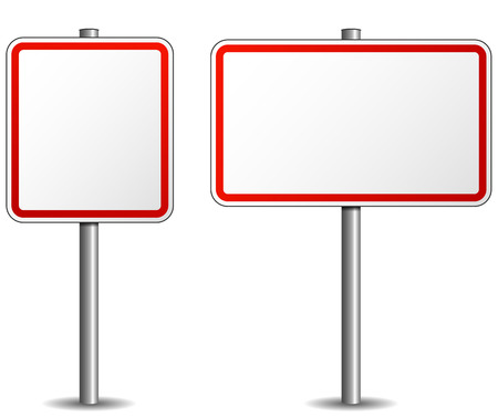 Illustration pour vector illustration of signpost empty on white background - image libre de droit