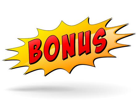 Ilustración de Vector illustration of bonus starburst icon on white background - Imagen libre de derechos